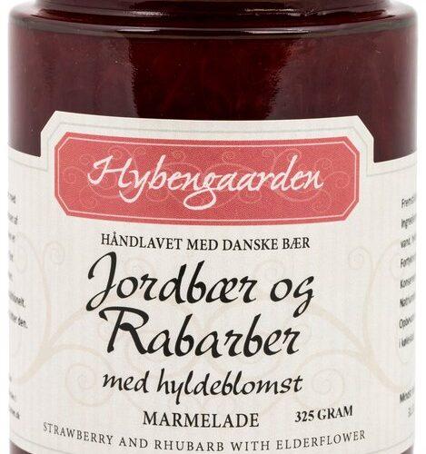 Jordbaer og rabarber marmelade